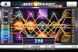 Big Bang Touch Mobile Slot Winning Lines