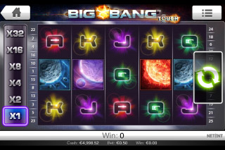 Big Bang Touch Mobile Slot Screenshot