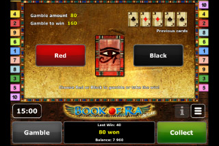 Book of Ra Deluxe Slot Gamble Feature