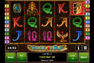Book of Ra Deluxe Mobile Slot Screenshot