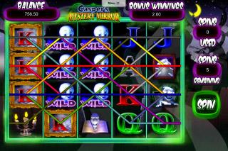 Casper's Mystery Mirror Mobile Slot Free Spins Win