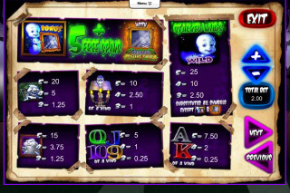 Casper's Mystery Mirror Mobile Slot Paytable