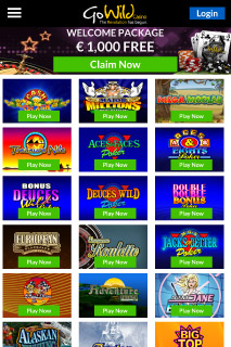 GoWild Mobile Casino Games