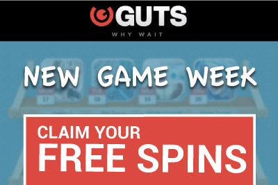 Claim your Free Spins on NetEnt Slots at Guts Mobile Casino