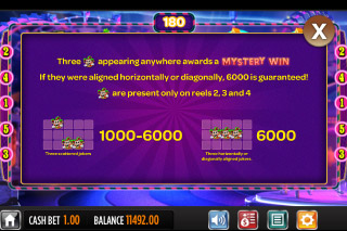 Jokerizer Mobile Slot Paytable