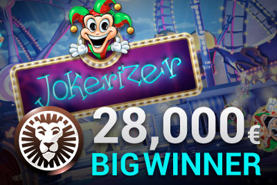 One Big Win in One Spin on New Jokerizer Slot at Leo Vegas Casino