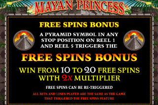 Mayan Princess Mobile Slot Free Spins Bonus
