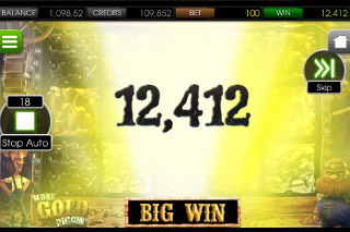 More Gold Diggin' Mobile Slot Big Win