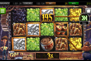 More Gold Diggin' Mobile Slot Screenshot
