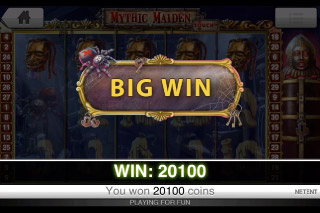 Mythic Maiden Touch Slot Big Win