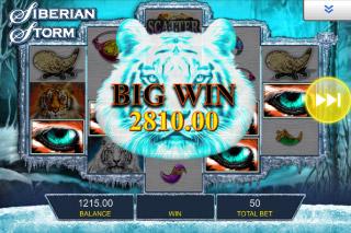 Siberian Storm Mobile Slot Big Win