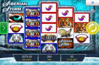 Siberian Storm Mobile Slot Screenshot