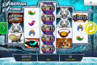 Siberian Storm Mobile Slot Wilds