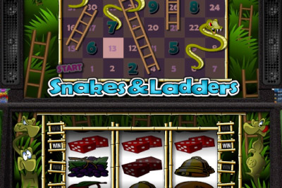 Snakes & Ladders Mobile Slot Logo - Realistic