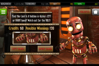 The Curious Machine Mobile Slot Gamble Feature