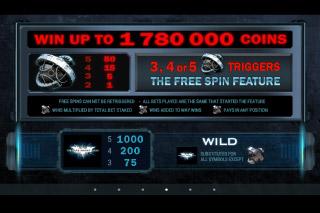The Dark Knight Rises Slot Max Win