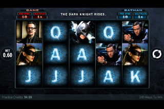 The Dark Knight Rises Mobile Slot Screenshot