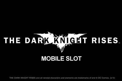 The Dark Knight Rises Mobile Slot Logo