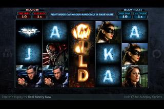 The Dark Knight Rises Mobile Slot Wild