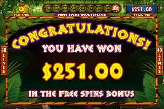 Tiger's Eye Mobile Slot Free Spins Win