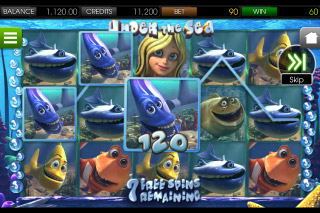 Under the Sea Mobile Slot Free Spins Round