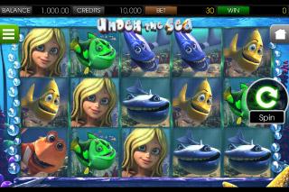 Under the Sea Mobile Slot Screenshot