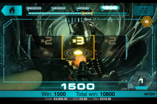 Aliens Touch Mobile Slot Bonus Game