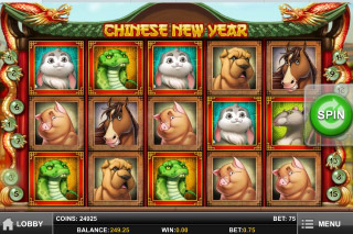 Chinese New Year Mobile Slot Screenshot