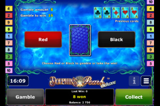 Dolphin's Pearl Deluxe Mobile Slot Gamble Feature