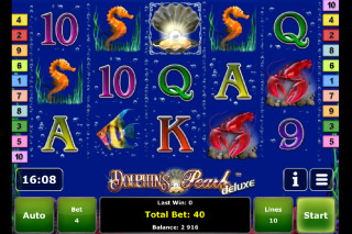 Dolphin's Pearl Deluxe Mobile Slot Screenshot