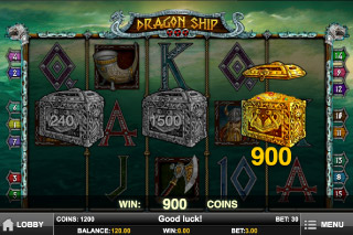 Dragon Ship Mobile Slot Bonus Game