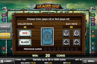 Dragon Ship Mobile Slot Gamble Feature
