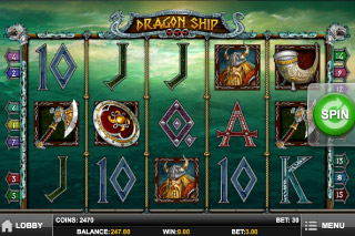 Dragon Ship Mobile Slot Screenshot