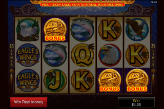 Eagle's Wings Mobile Slot Bonus Rounds