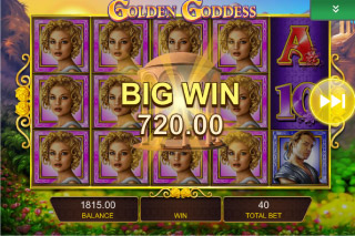 Golden Goddess Mobile Slot Big Win