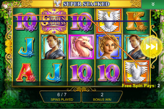 Golden Goddess Mobile Slot Free Spin