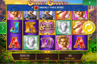 Golden Goddess Mobile Slot Screenshot