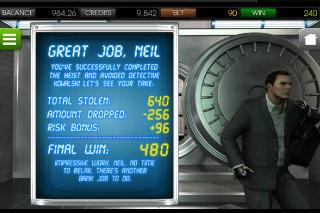 Heist Mobile Slot Bonus Win