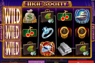 High Society Mobile Slot Screenshot