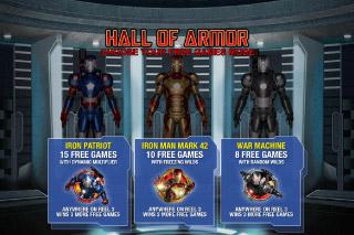 Iron Man 3 Mobile Slot Hall of Armor