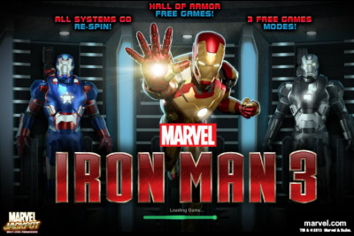 Iron Man 3 Mobile Slot Logo