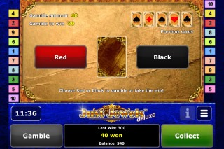 Just Jewels Deluxe Mobile Slot Gamble Feature