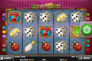 Lady of Fortune Mobile Slot Screenshot