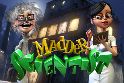 Madder Scientist Mobile Slot Logo