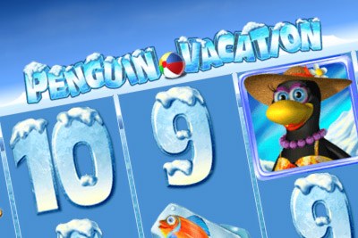 Penguin Vacation Mobile Slot Logo