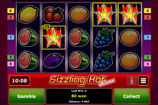 Sizzling Hot Deluxe Mobile Slot Screenshot