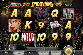 Spider-Man Mobile Slot Screenshot