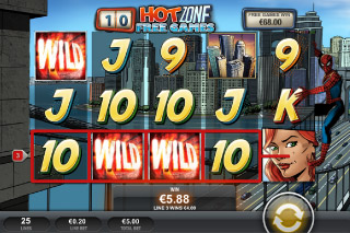 Spider-Man Mobile Slot Hot Zone Bonus