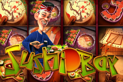 Sushi Bar Mobile Slot Logo