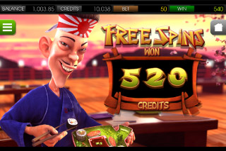 Sushi Bar Mobile Slot Free Spins Win